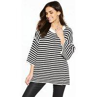 Noisy may Harley 2/4 Long Sleeve Knit Top, Stripe, Size 8=S, Women