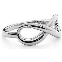 Hot Diamonds Sterling Silver Infinity Ring, One Colour, Size N, Women