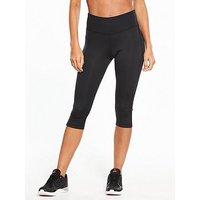 Reebok Core Workout Capri - Black , Black, Size S, Women