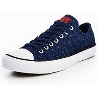 Converse Chuck Taylor All Star Speckled Jersey Ox, Navy, Size 8, Men