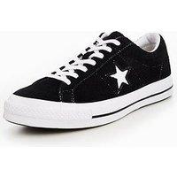 Converse One Star Ox - Black , Black, Size 3, Women