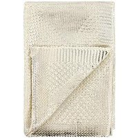 Product photograph showing Michelle Keegan Home Metallic Diamond Knitted Throw