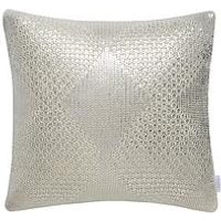Product photograph showing Michelle Keegan Home Metallic Diamond Knitted Cushion