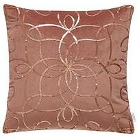 Michelle Keegan Home Metallic Sequin Embroidered Cushion