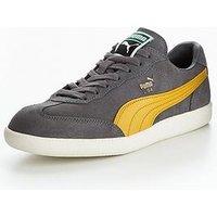 Puma Liga Suede, Grey/Yellow, Size 6, Men