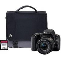 Canon Eos 200D Black Slr Camera Kit Including 18-55Mm Is Stm Lens, 16Gb Sd Card And Case