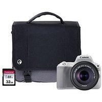 Canon Eos 200D White Slr Camera Kit Inc 18-55Mm Is Stm Lens, 16Gb Sd Card And Case