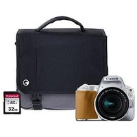 Canon Eos 200D Silver Slr Camera Kit Including 18-55Mm Is Stm Lens, 16Gb Sd Card And Case