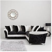 Product photograph showing Zulu Fabric Corner Group Sofa