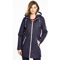 V by Very Rain Coat With Fleece Lining, Coral, Size 8, Women