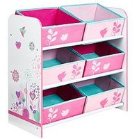Product photograph showing Hello Home Hello Home Flowers And Birds Kids Storage Unit