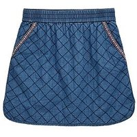 V by Very Quilted Boho Skirt, Indigo, Size 16 Years, Women