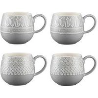 Product photograph showing Mason Cash Set Of 4 Impressions Mugs