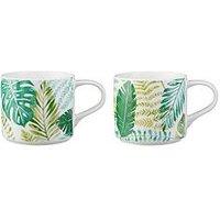 Price & Kensington Botanical Stacking Mugs - Set Of 2