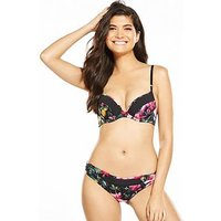 B By Ted Baker Citrus Bloom Hipster Briefs, Black, Size 18, Women