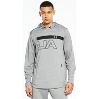 UNDER ARMOUR Tech Terry Graphic Hoodie, Steel, Size Xl, Men