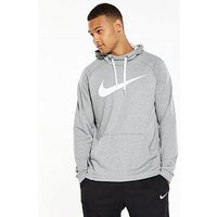 Nike Dry Training Overhead Swoosh Hoodie, Dark Grey Heather, Size Xl, Men