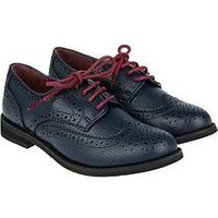 Monsoon Boys Brogue Shoe, Navy, Size 8 Younger