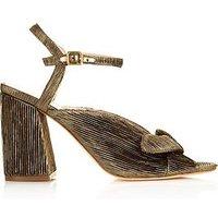 Loeffler Randall Leigh LamÉ Block Heel Sandals - Gold