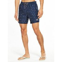 Speedo Speedo Elemental Fusion Printed Leisure 16 Inch Watershort, Navy/White, Size Xl, Men
