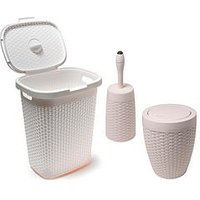 Addis 50-Litre Faux Rattan Bathroom Set