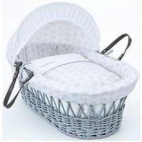 Clair De Lune Speckles Moses Basket -Grey, Grey