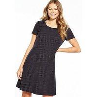 Boss Orange Spot Print Fit & Flare Dress, Multi, Size 8, Women