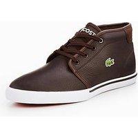 Lacoste Ampthill Lcr3 Spm Chukka Boot, Dark Brown, Size 10, Men