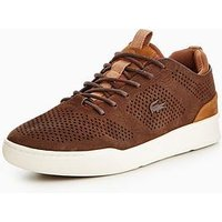 Lacoste Lacoste Explorateur Craft 118 1 Cam Trainer, Dark Brown, Size 7, Men