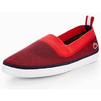 Lacoste L.ydro 118 1 Cam Slip On, Red/Navy, Size 6, Men