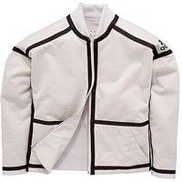 adidas Adidas Older Girl Zne Reversible Bomber Jacket, White/Grey, Size 7-8 Years, Women