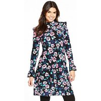 V by Very Printed Frill Day Dress, Print, Size 18, Women
