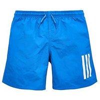 Boys, adidas Older Boy 3s Swimshort, Royal, Size 7-8 Years
