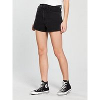 Calvin Klein Jeans Calvin Klein High Rise Short, Black Fame Comfort, Size 30, Women