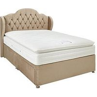 Luxe Collection From Airsprung Harlow 1000 Pillowtop Divan Bed With Storage Options (Includes Headboard!)