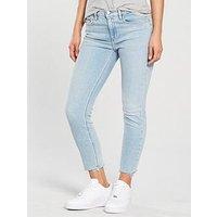 Calvin Klein Jeans Distressed Hem Skinny Jean - Berlin Blue, Berlin Blue Stretch, Size 28, Women