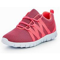 V by Very Mia Trainer, Hot Pink, Size 7 Younger