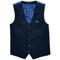 Boys, V by Very Navy Occasionwear Smart Suit Waistcoat, Navy, Size Age: 11 Years