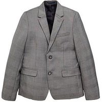 Boys, V by Very Occasion Wear Smart Suit Jacket, Grey Check, Size Age: 14 Years