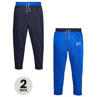 Boys, V by Very 2 Pk Joggers, Navy / Grey, Size Age: 16 Years