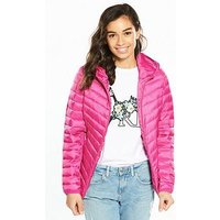 V by Very Petite Lightweight Padded Coat, Bright Pink, Size 10, Women
