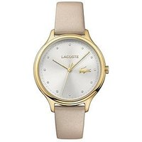 Lacoste Lacoste Constance silver dial white leather strap ladies watch, One Colour, Women