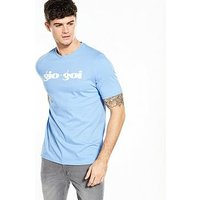Gio Goi Retro Logo T Shirt, Sky Blue, Size Xs, Men