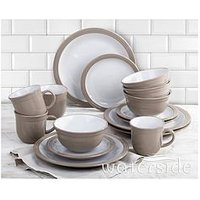 Product photograph showing Waterside Camden 16-piece Dinner Set Ndash Taupe