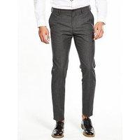 Tommy Hilfiger Tonal Check Suit Trouser, Charcoal, Size 58=Uk42In, Inside Leg Regular, Men