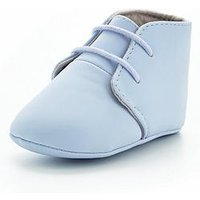 Mini V by Very Boys Baby Lace Up Booties, Blue, Size 2