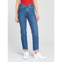 Tommy Jeans High Rise Slim Izzy Jeans - Mid Blue , Mid Blue Rigid, Size 12=30, Women