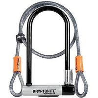 Kryptonite Kryptolok Standard Bike U-Lock With 4 Foot Kryptoflex Cable
