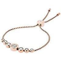 MICHAEL KORS MKJ5336 Cubic Zirconia Rose Gold Tone Slider Bracelet, One Colour, Women