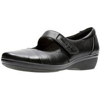 Clarks Everlay Kennon Comfort Mary Jane Shoe, Black Leather, Size 3, Women